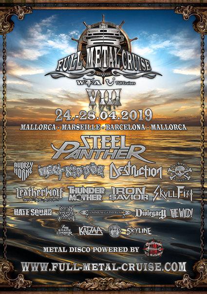 Finale Bands und letzte Kabinen für die Full Metal Cruise VIII!