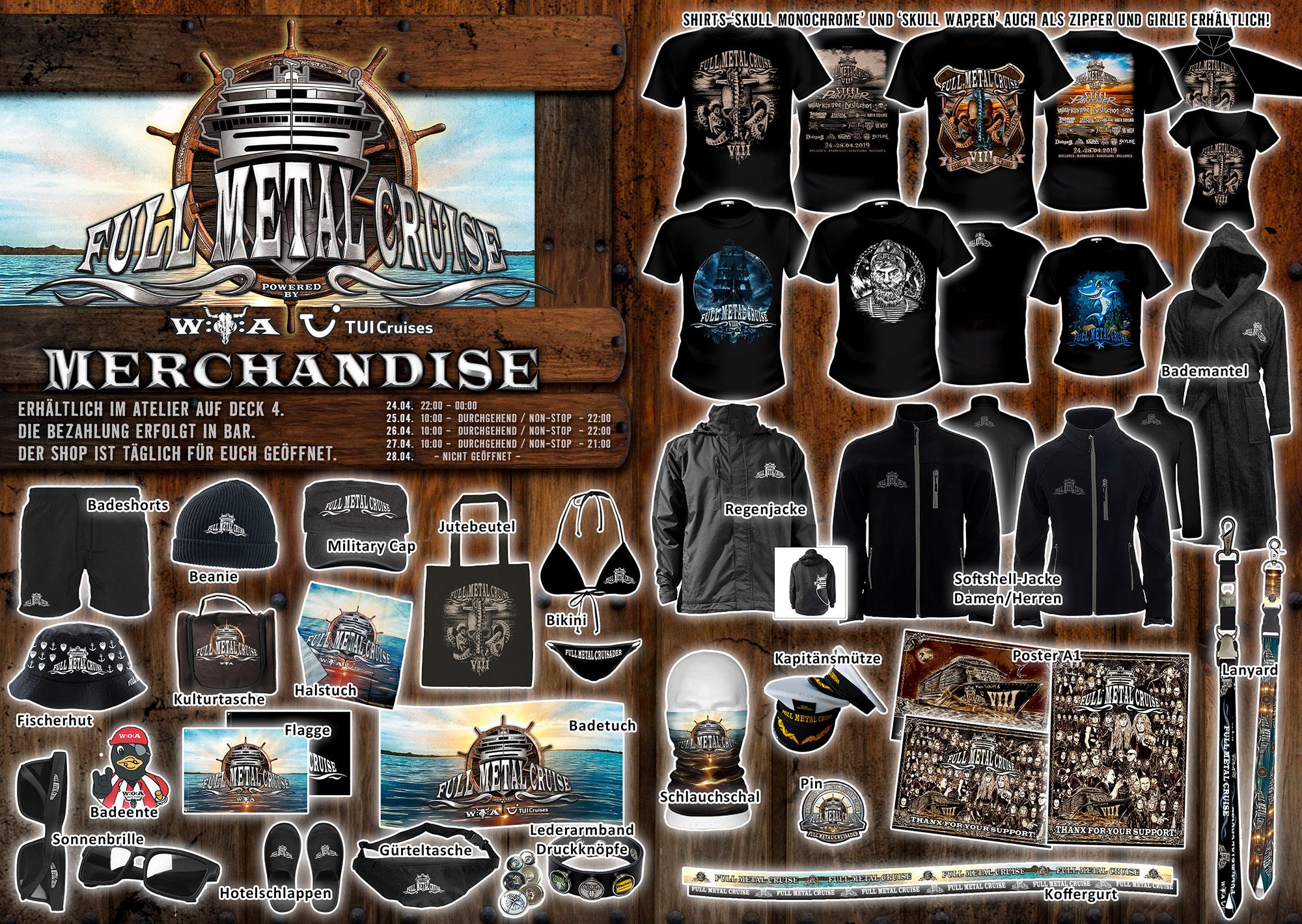 Merchandise an Bord der FMC VIII