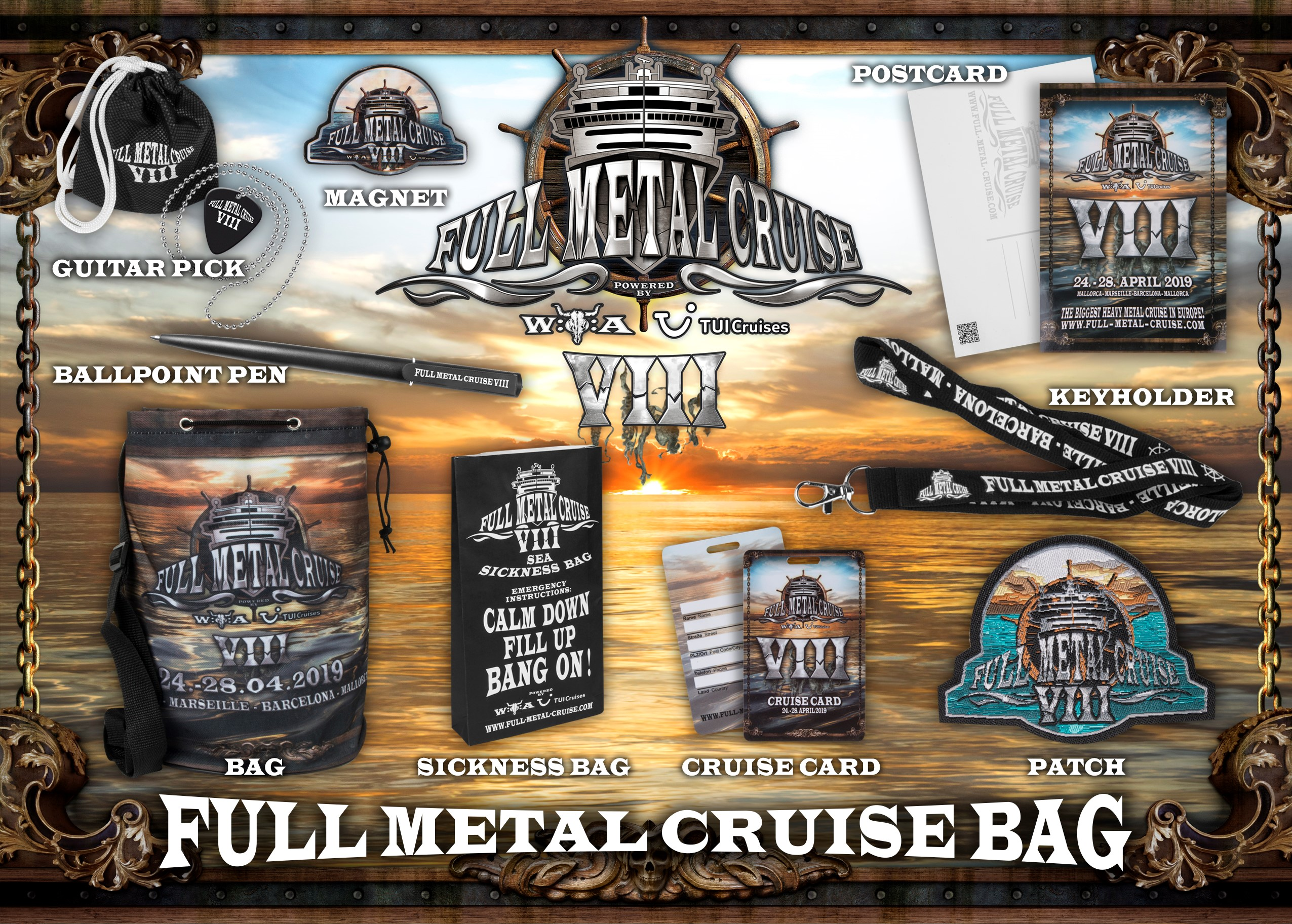 Das Full Metal Cruise Bag für die FMC VIII